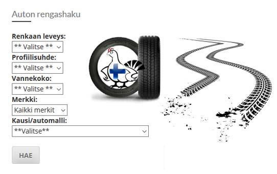 Auton renkaat netistä halvalla